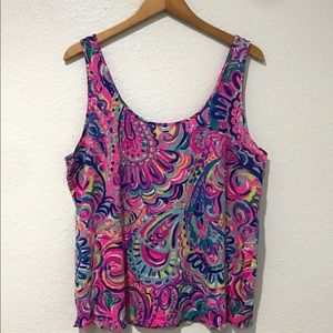 Lilly Pulitzer Kinsey Tank Psychedelic Sunshine